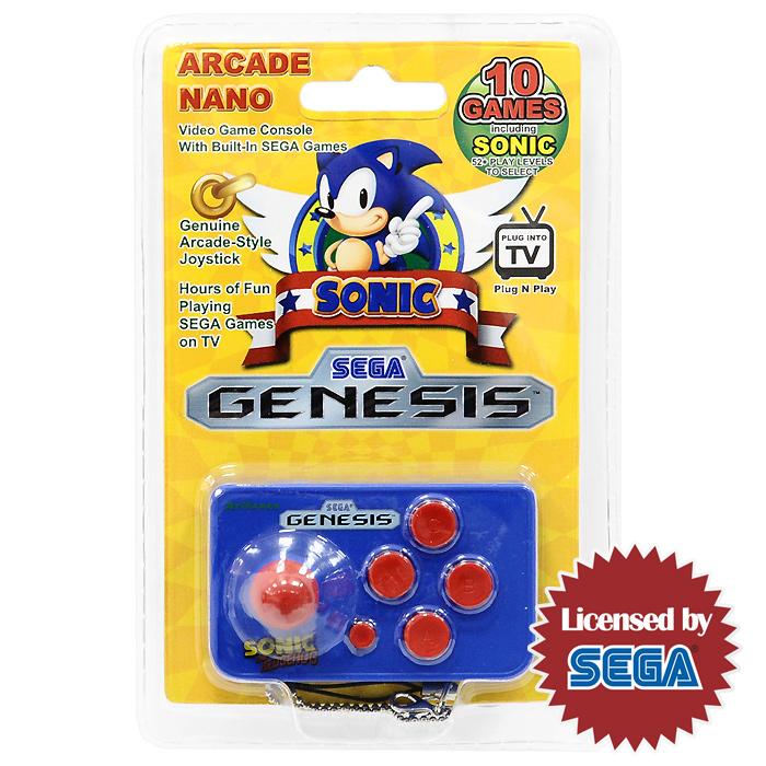 Игровая приставка SEGA Genesis Nano Sonic 10 игр - Игровые консоли