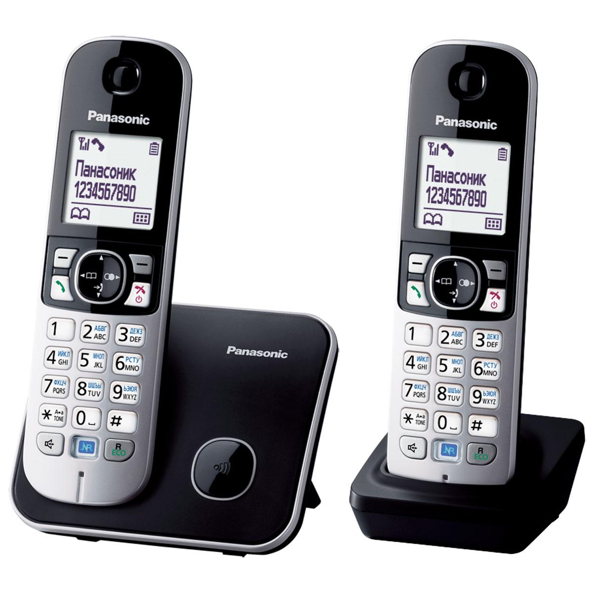 Panasonic KX-TG6812 RUB DECT телефонKX-TG6812RUBDECT телефон Panasonic KX-TG6812RUB.Функция радионяня - вы можете осуществлять акустический контроль помещения, например, детской из других комнат в доме - одна трубка устанавливается рядом с ребенком, а вторая - у родителей.Функция резервного питания - в случае отключения электричества телефон может работать (на базе) от аккумулятора трубки.Panasonic KX-TG6812RUB имеет в комплекте дополнительную трубку.Блокировка клавиатурыРусифицированное менюЧасы, дата на дисплееБудильник с повторным сигналом и установкой по дням неделиПовторный набор