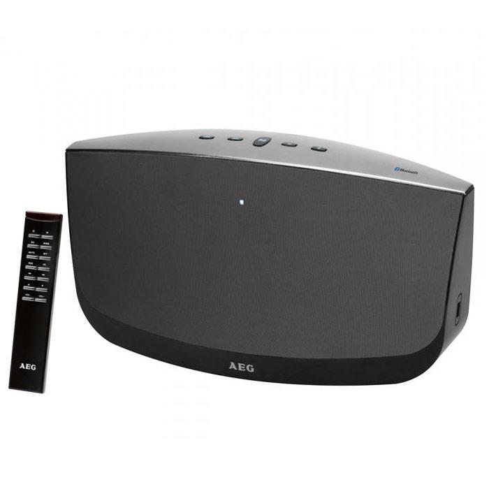AEG BSS 4804, Black Grey Bluetooth-аудиосистемаBSS 4804 schwarz-grauАудиосистема AEG BSS 4804 со встроенным сабвуфером, Bluetooth и AUX-IN. Идеальна для подключения смартфона.