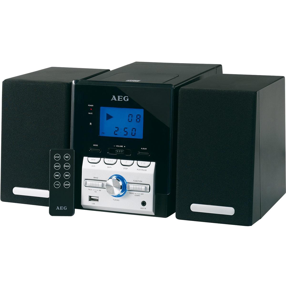 AEG MC 4443, Black микросистемаMC 4443Музыкальный центр AEG MC 4443 с воспроизведением CD, МР3 и радио.