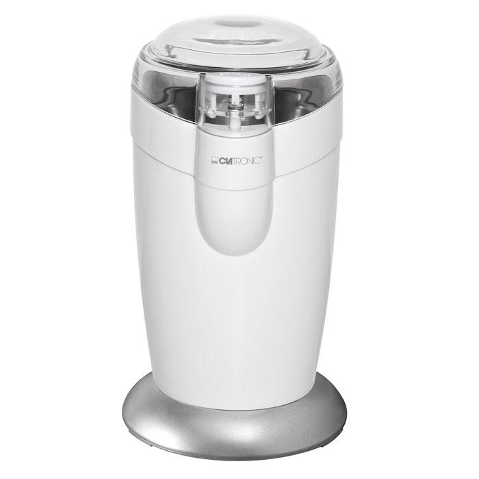Clatronic KSW 3306, White кофемолкаKSW 3306 WhiteКофемолка Clatronic KSW 3306 с ротационным ножом и импульсным режимом позволяет быстро и качественно превратить кофейные зерна в молотый кофе. Имеется приспособление для намотки шнура и блокировка включения при снятой крышке. Кофемолка отличается компактными размерами и удобством использования.
