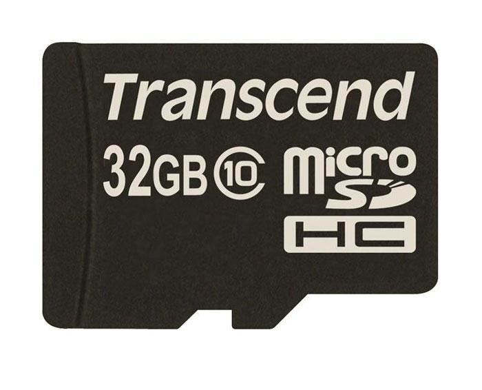 Transcend microSDHC Class 10 32GB карта памяти (TS32GUSDC10)TS32GUSDC10Карта памяти Transcend microSDHC Class 10 обладает отличными рабочими характеристиками при размере всего лишь 1/10 от размера SD карты. Продукт отличает необычайная скорость класса 10, представленная Ассоциацией SD карт в качестве новых характеристик SD 3.0, скорость записи 10 MБ/сек. гарантирована. Карта памяти microSDHC класса 10 с высокими скоростными характеристиками, большим размером памяти до 32 ГБ при минимальном размере особенно рекомендована для использования в современных мобильных устройствах.Все microSDHC карты прошли строгие тестирования на совместимость и надежность, и имеют ограниченную гарантию от компании Transcend. Каждая карта снабжена встроенным ECC (корректирующим кодом), который отвечает за автоматические обнаружение и устранение ошибок в процессе передачи данных.Внимание: перед оформлением заказа убедитесь в поддержке вашим электронным устройством карт памяти данного объема.