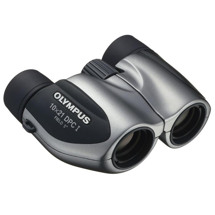 Olympus 10x21 DPC I, Silver бинокль17064Когда Вы наблюдаете за спортивным событием не из первого ряда, бинокль Olympus 10x21 DPC I поможет Вам перенестись в самый центр событий. А наличие диоптрийной коррекции позволит пользователям с плохим зрением также насладиться мероприятием.