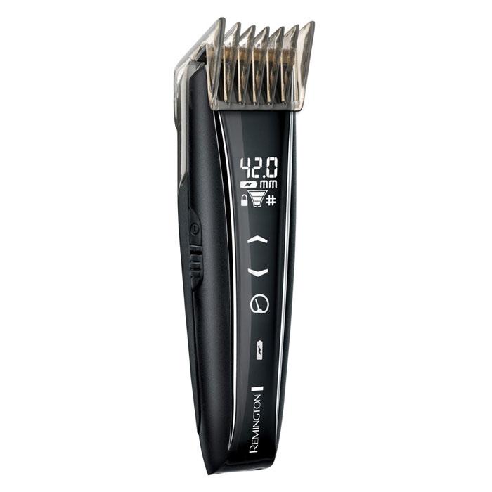 Remington НС5950 машинка для стрижкиHC5950Универсальная машинка для стрижки волос Remington HC5950. Имеет эргономичную ручку, поддерживает длину стрижки от 0.40 до 42 мм. Самозатачивающиеся лезвия3 насадкиСтрижка бородыВозможность выбора скорости (3 режима)Отображение оставшегося время работыИндикатор настройки длиныИндикатор блокировкиВозможность зарядки через микро USB