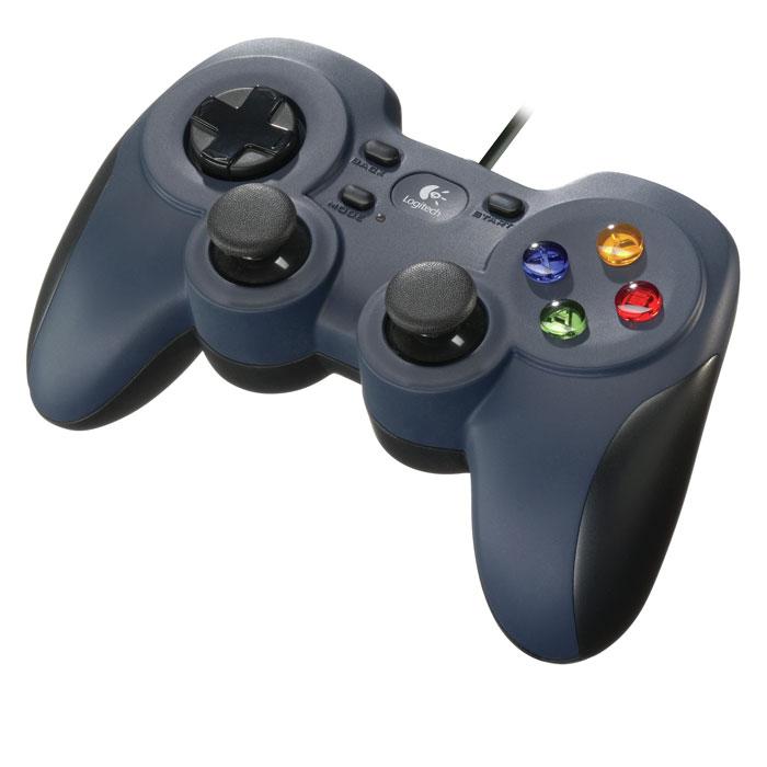 Logitech F310 Gamepad геймпад (940-000135)940-000135Играйте на телевизоре:Подключившись к системе Big Picture, можно получать доступ к Steam, просматривать веб-страницы, играть и делать многое другое, не вставая с дивана. Перенесите всю свою библиотеку игр Steam в гостиную, возьмите геймпад F310, откиньтесь на спинку дивана и получайте удовольствие!Возьмите и играйте:Благодаря привычному расположению кнопок ваша интуиция подскажет вам нужные действия. Вы сможете мгновенно начать играть. Геймпад F310 создан для того, чтобы обеспечить управление, как на консоли. Он обладает традиционной конструкцией с инновационными улучшениями и буквально становится продолжением ваших рук.Эксклюзивный D-манипулятор с 4 переключателями:Стандартные D-манипуляторы имеют одну точку наклона, из-за чего управление может быть недостаточно точным. Этот D-манипулятор плавно скользит над четырьмя отдельными переключателями и создает ощущение быстрого отклика и высокой чувствительности.Хорошая приспосабливаемость и возможности настройки:С помощью ПО Logitech Profiler можно легко изменить стандартные команды либо приспособить геймпад F310 для неподдерживаемых игр. Кнопки и элементы управления являются полностью программируемыми и даже могут имитировать команды клавиатуры и мыши.Шнур 1,8 м:Отодвиньтесь от монитора на комфортное расстояние или спляшите победный танец. А лучше — сделайте и то и другое одновременно!Удобство для Ваших рук:Вы по достоинству оцените удобство при длительных игровых сеансах благодаря плавным контурам прорезиненной поверхности захвата.