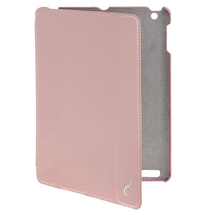 G-case Elegant чехол для iPad 4/3/2, PinkGG-69Стильный чехол-подставка Elegance выполнен для The new iPad 4/ 3/ 2 из качественной кожи в сочетании с текстильным материалом и различным оформлением и фактурой. Мягкая внутренняя отделка защищает планшет от повреждений. Чехол обеспечивает доступ к разъемам и свободному управлению.
