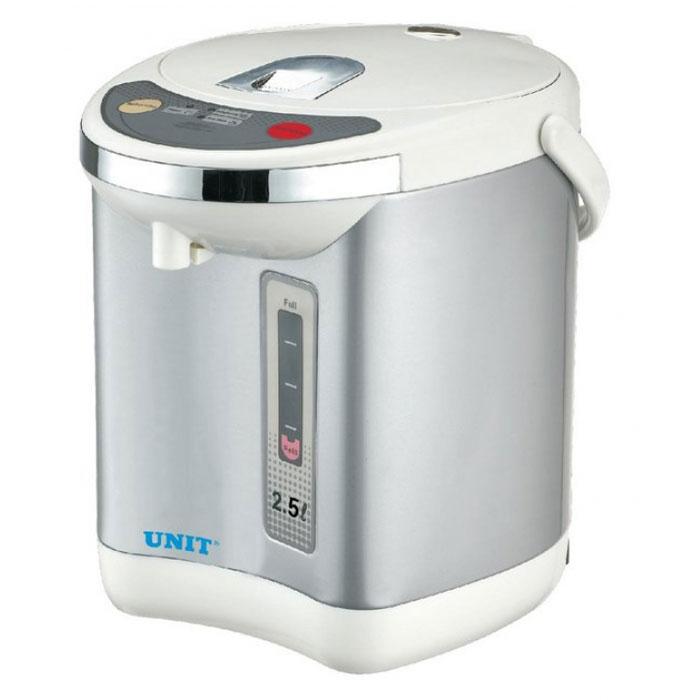 Unit UHP-120UHP-120Термопот Unit UHP-120 - это удачное приобретение для Вашей кухни. Во-первых, термопоты потребляют мощности в 2-3 раза меньше, чем обычные электрочайники. А во-вторых, современные термопоты отличаются стильным, привлекательным дизайном. Термопоты обладают качествами электрочайника и термоса. Поэтому вода в термопотах закипает так же быстро как в обычных электрочайниках, а после кипячения достаточно длительное время остается горячей.