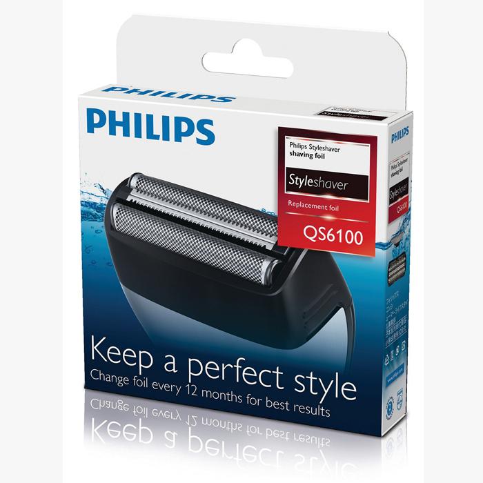 Philips QS6100/50 бритвенная головкаQS6100/50Бритвенная головка Philips QS6100/50.100%-ая водонепроницаемость для использования в душе и удобства очистки: Подходит для сухого и влажного бритья и подравнивания. Чтобы очистить устройство, просто промойте его под струей воды. Для качественного бритья заменяйте бритвенные сетки каждые 12 месяцев: 1. отсоедините насадку бритвы с устройства Styleshaver. 2. Снимите старую сетку и режущие блоки. 3. Поместите новую сетку в держатель. 4. Поместите новые режущие блоки в устройство Styleshaver и нажмите на новый держатель и сетку до щелчка.Двойная бритва с триммером сбривает даже самые жесткие волоски: Двойная бритвенная сетка позволяет с легкостью сбривать щетину вокруг бороды и даже на шее. Средний триммер сбривает более длинные и жесткие волосы, а 2 плавающие сетки обеспечивают гладкое бритье на остальных участках лица.Подходит для для Philips QS6140, QS6160