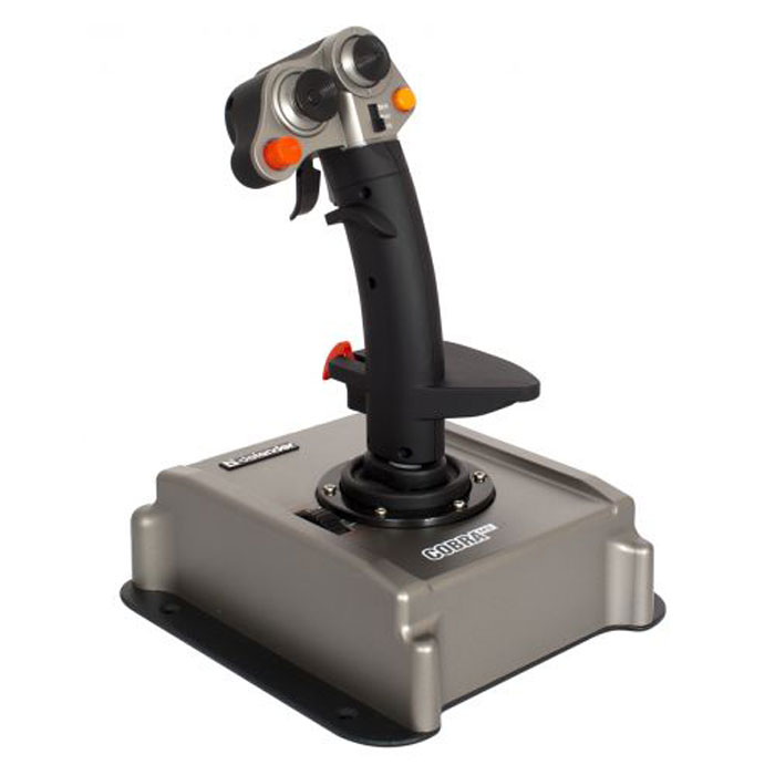 Defender Cobra M5 джойстик64305Cobra M5 USB - профессиональный игровой джойстик для ПК.Бесконтактная магнитная технология позиционирования M-Force:Благодаря применению специальных сенсоров, реагирующих на изменение магнитного поля во время движения ручки джойстика, мы смогли отказаться от контактных деталей в механизме измерения угла отклонения джойстика. Это позволяет добиться потрясающей точности, надежности устройства и отсутствия мертвых зон.Специальная конструкция курков ClusterFireTM с поддержкой залпового огня:Благодаря особой конструкции курков игрок может использовать либо основное оружие, либо второстепенное, либо, если того требует обстановка на поле боя, оба вида вооружения одновременно.23 программируемые кнопки, включая 2 курка ClusterFireTM:Физически игроку доступны 7 кнопок, плюс два курка ClusterFire. Фактически, благодаря трем режимам управления, игроку доступна комбинация из 23 кнопок. Также Cobra M5 USB оснащен третьим уникальным откидывающимся курком.Четыре оси позиционирования: газ, крен, рысканье и тангаж:Для регулирования тяги предусмотрен специальный рычаг (ручка контроля тяги).Интерфейс USB 2.0/3.0Магнитный сенсор M-Force4 оси позиционированияD-Pad 8-позиционный