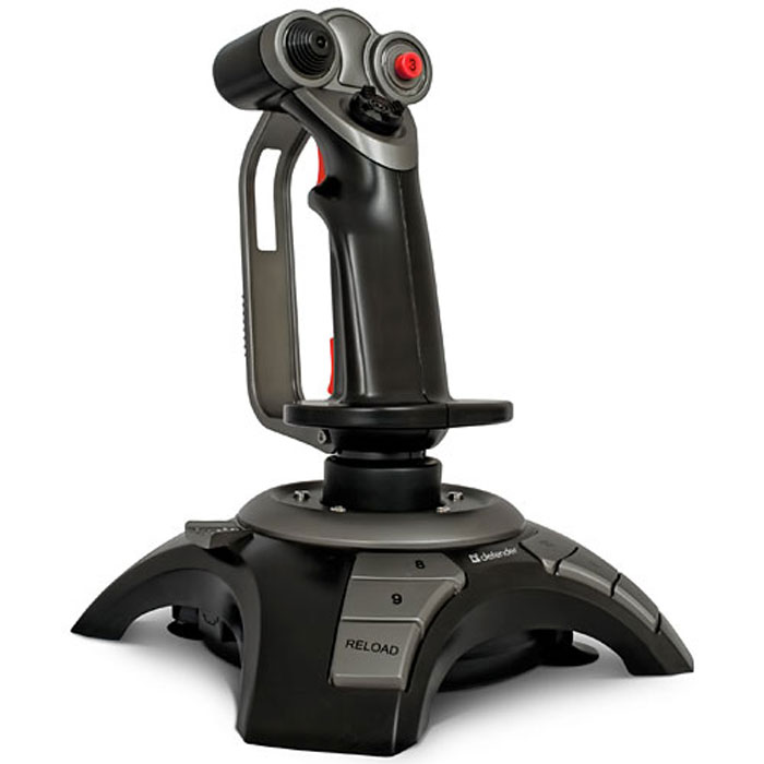 Defender Cobra R4 джойстик64304Defender Cobra R4 - джойстик, обеспечивающий полное превосходство в воздухе.Специальная конструкция крепления исключает возможность скольжения и перемещения джойстика даже во время самых яростных баталий. 12 программируемых кнопок позволяют настраивать управление боевым самолетом, а также эмулировать работу клавиатуры и мыши.4 оси позиционирования: газ, тормоз, рысканье и тангаж. Благодаря этой функции Вы сможете достичь наиболее реалистичного управления истребителем, маневрировать по любой доступной траектории. Также Вы можете настраивать чувствительность оси OZ для более точного маневрирования по горизонтальной плоскости.Джойстик имеет встроенный вибромотор, что позволяет реализовать эффект виброотдачи (игра должна поддерживать режим виброотдачи). Эргономичная конструкция ручки предотвращает усталость кисти даже при многочасовой игре.