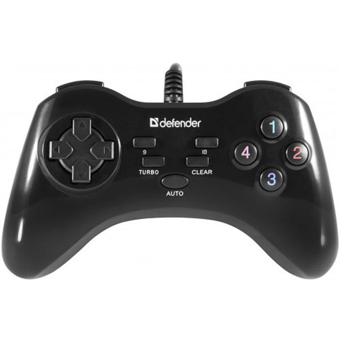 Defender Game Master G2 проводной геймпад64258Defender Game Master G2 - проводной геймпад с оптимальным соотношением «цена-качество». Это отличный выбор для тех, кто хочет с комфортом управлять игровым процессом, но при этом пока не готов переплачивать за «продвинутые» функции. Кнопки Turbo, Auto и Clear позволяют максимально эффективно использовать оружие в шутерах.