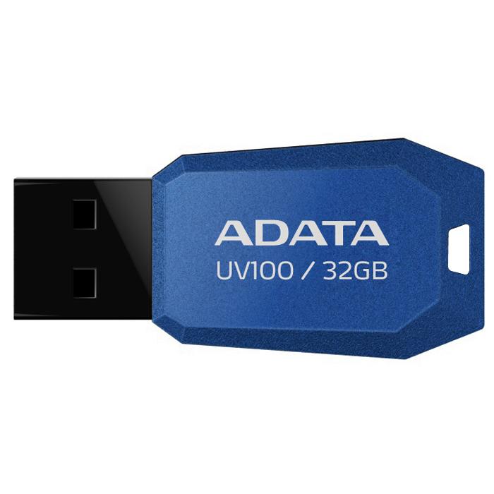 ADATA UV100 32GB, Blue флэш-накопительAUV100-32G-RBLТонкий флеш-накопитель ADATA UV100 расширяет предлагаемый широкий ассортимент портативных устройств хранения данных.Накопитель имеет бесколпачковую конструкцию, исключающую риск потери колпачка. Отверстие в корпусе позволяет легко носить накопитель на шнурке или брелоке для ключей. Для тех, кто разбирается в моде, накопитель выгодно отличается внешним видом, напоминающим огранку бриллианта, что позволяет владельцам подчеркнуть свой уникальный личный стиль.Обладая длиной всего 41 мм и толщиной лишь 5.8 мм, этот накопитель является в высшей степени компактным и экономичным решением для тех, кто считает переносимость данных насущной необходимостью.