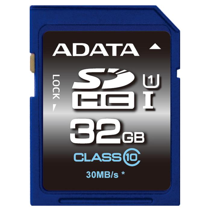 ADATA SDHC Premier UHS-I class 10, 32GB adata sdhc premier uhs i class 10 32gb