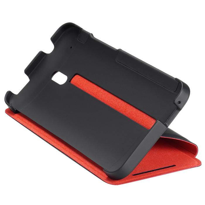HTC HC V851 чехол для HTC One mini, Black RedHC V851Жесткий чехол HTC HC V851 для смартфона HTC One mini. Черный корпус с красной внутренней подкладкой надежно защищает телефон и придает ему индивидуальность. Твердая внешняя поверхность обеспечивает уверенное удерживание телефона в руке, при этом динамики и экран остаются незакрытыми.