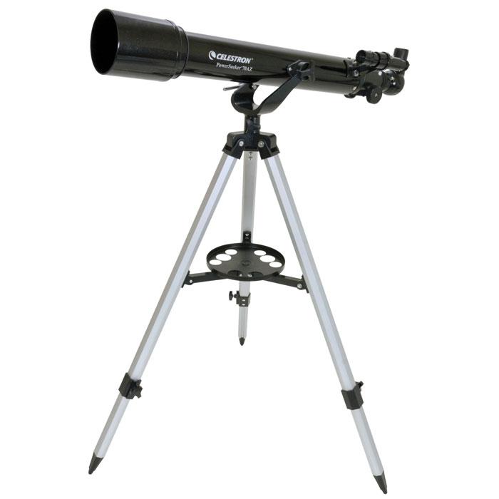 Celestron PowerSeeker 70 AZ телескоп-рефракторC21036Телескоп Celestron PowerSeeker 70 AZ обладает необходимым для начинающего наблюдателя набором базовых функций. Теперь, с помощью этого телескопа Вы сможете познакомить своего ребенка со звездным небом, не тратя на оборудование астрономические суммы.Во всех инструментах серии PowerSeeker используются только стеклянные объективы, имеющие большое преимущество перед пластиковыми линзами, используемыми в телескопах начального уровня некоторых других производителей. Для улучшения пропускания света на оптические элементы нанесено эффективное просветляющее покрытие.