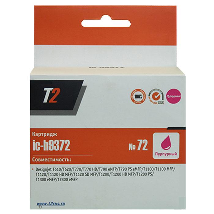 T2 IC-H9372 картридж для HP Designjet T610/T620/T770/T790/T1100/T1200/T1300/T2300 (№72), PurpleIC-H9372Картридж T2 IC-H9370/9371/9372/9373/9374 с чернилами для струйных принтеров и МФУ HP. Картридж собран из качественных комплектующих и протестирован по стандарту ISO.