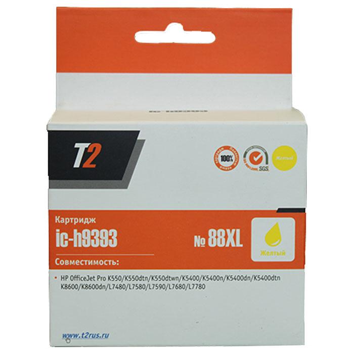 T2 IC-H9393 картридж для HP OfficeJet Pro K550/K5400/K8600/L7480/L7580/L7680/L7780 (№88XL), YellowIC-H9393Картридж повышенной емкости T2 IC-H9391/9392/9393/9396 с чернилами для струйных принтеров и МФУ HP. Картридж собран из качественных комплектующих и протестирован по стандарту ISO.