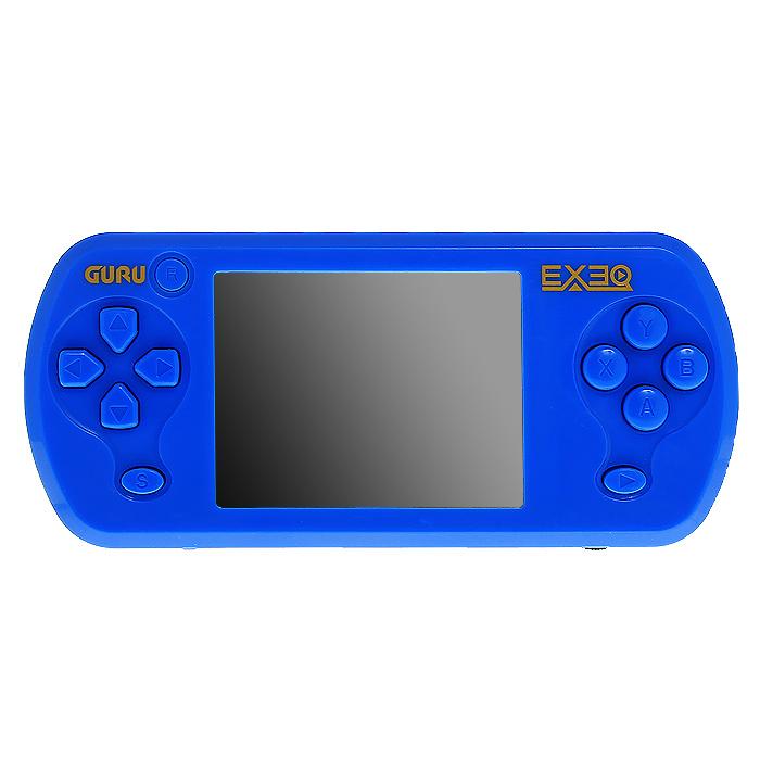 Портативная игровая консоль EXEQ Guru (синяя)VG-1643Портативная приставка EXEQ Guru с набором популярных видеоигр и сенсорным экраном. Эта яркая консоль хранит в своих недрах 155 видеоигр, так что Вам не придется качать и устанавливать игрушки из Интернета, а яркий сенсорный экран в 2,7 дюйма сделает игровой процесс еще более увлекательным - в комплекте 22 сенсорные игры.