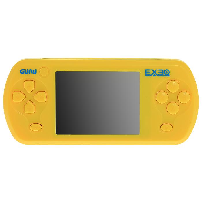 Портативная игровая консоль EXEQ Guru (желтая)VG-1643Портативная приставка EXEQ Guru с набором популярных видеоигр и сенсорным экраном. Эта яркая консоль хранит в своих недрах 155 видеоигр, так что Вам не придется качать и устанавливать игрушки из Интернета, а яркий сенсорный экран в 2,7 дюйма сделает игровой процесс еще более увлекательным - в комплекте 22 сенсорные игры.