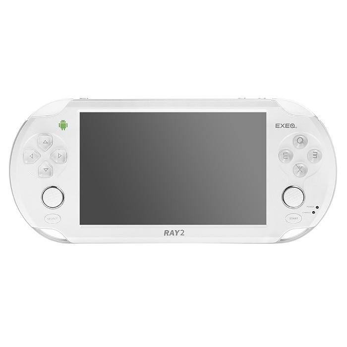 Портативная игровая консоль EXEQ Ray 2 (белая)MP-1025 WHПортативная игровая консоль EXEQ Ray 2 работает на базе OS Android 4.1 и оснащена двухъядерным процессором с частотой 1.5 ГГц.Мощная начинка обеспечивает не только высокое быстродействие загружаемых приложений, но и гарантирует плавное воспроизведение видео в формате высокой четкости. Для любителей сенсорных игр устройство имеет 5-ти дюймовый емкостной экран с поддержкой до пяти одновременных касаний. Однако при желании все виртуальные кнопки экрана можно легко перевести на аналоговые кнопки благодаря функции Virtual key mapping. Кроме того, для наиболее эффективного управления в играх консоль оборудована двумя аналоговыми джойстиками.Приятным дополнением консоли также является приложение Game Center - все закачиваемые игры будут четко структурированы, а поиск любимой игры не займет много времени. EXEQ Ray 2 также обладает яркими коммуникационными возможностями - выход в интернет можно осуществить при помощи модуля Wi-Fi, при помощи кабеля OTG к консоли можно подключить клавиатуру, мышь или даже модуль 3G для более скоростного интернета. Выход HDMI позволит вывести приложения с приставки на самые большие экраны телевизоров.