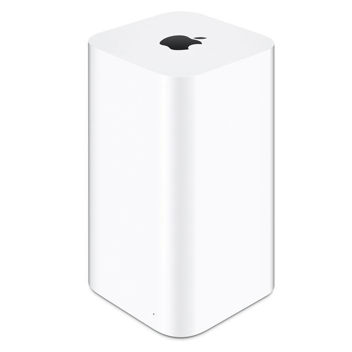 Apple AirPort Time Capsule 3TB (ME182RU/A) Wi-Fi точка доступаME182RU/AApple AirPort Time Capsule — это высокоскоростная базовая станция Wi-Fi и удобное устройство для беспроводного резервного копирования.Автоматическое беспроводное резервное копирование:Устройство AirPort Time Capsule имеет встроенный жесткий диск емкостью 2 ТБ или 3 ТБ, который работает совместно с приложением Time Machine в OS X, создавая идеальное решение для беспроблемного резервного копирования. Проводное подключение не требуется, резервное копирование всех Ваших компьютеров Mac будет выполняться в автоматическом фоновом режиме по беспроводной сети, а все резервные копии будут храниться в одном месте.Технология 802.11ac для развертывания супербыстрой сети Wi-Fi:В основе AirPort Time Capsule лежит технология 802.11ac, которая обеспечивает суперскоростное соединение и сильный сигнал без помех для сетей Wi-Fi2. Поскольку это устройство одновременно работает в диапазонах частот 2,4 ГГц и 5 ГГц, беспроводные устройства смогут выполнять подключение к сети в наиболее оптимальном диапазоне, гарантируя максимальное быстродействие.Дизайн, обеспечивающий максимальную производительность:Антенны AirPort Time Capsule расположены в верхней части корпуса, который стал значительно выше, что позволяет транслировать сетевой сигнал с большей высоты. Число антенн также было увеличено. Теперь их шесть: три антенны с рабочим диапазоном 2,4 ГГц и три антенны с рабочим диапазоном 5 ГГц. В сочетании с технологией 802.11ac это позволяет подключаться к сети на большей скорости, большем расстоянии и с большей мощностью сигнала, чем прежде.Простота настройки в iOS и OS X:Подсоедините к устройству AirPort Time Capsule кабельный или DSL-модем и воспользуйтесь встроенным помощником по настройке для того, чтобы создать новую беспроводную сеть буквально в несколько прикосновений к экрану Вашего iPhone, iPad, или iPod touch. Если Вы пользуетесь компьютером Mac, воспользуйтесь встроенной утилитой AirPort. Настройка выполняется не