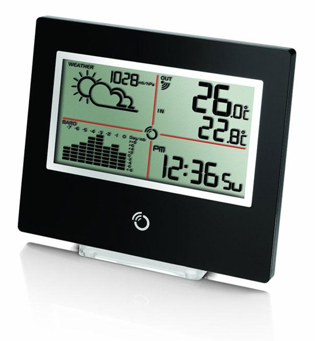 Oregon Scientific BAR801BAR801Oregon Scientific BAR801 - тонкая погодная станция с диаграммой давления, благодаря которой Вы можете видеть на одном экране текущее состояние погоды, прогноз, а также сегодняшние дату, время и день недели.Прогноз погоды на ближайшие 12-24 часа ( солнечно, переменная облачность, облачно, осадки)Автоматический календарь с указанием даты и дня неделиПогодная станция:Количество каналов (датчиков) возможных к подключению: 1Питание: 2 батарейки 3В типа CR2032Дистанционный датчик:Частота передачи радиосигнала: 433 МГцДальность передачи радиосигнала: 100 мПитание: 1 батарейка 1,5В типа АА