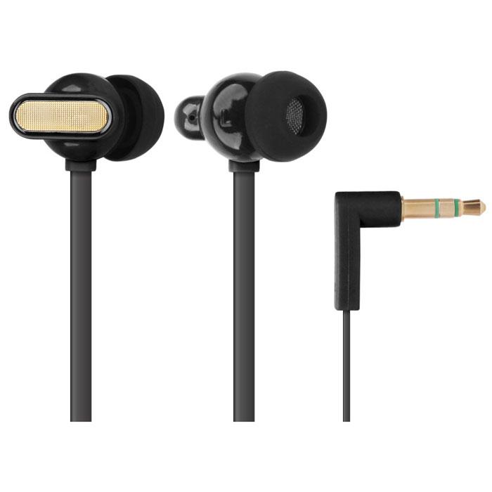 EXEQ HHC-001, Black наушникиHHC-001 BLEXEQ HHC-001 - наушники из серии Happy Color удивят меломанов не только своим достойным качеством звучанием, но и потрясающим дизайном с интересным выбором цветов. Благодаря эргономичному дизайну наушники плотно фиксируются в ушной раковине, что заглушает внешние источники звука и увеличивает положительные эмоции от прослушивания. Наушники так же имеют плоский, не спутывающийся 130 см кабель и прочный L-образный штекер с позолоченным 3.5 мм джеком.Яркий дизайн:EXEQ HHC-001 – наушники с потрясающим дизайном и яркой цветовой гаммой. На выбор предлагается четыре варианта цветового исполнения: синий, зеленый, розовый и черный. Яркий насыщенный цвет, плавная обтекаемая форма динамиков и стильная металлическая вставка делают наушники EXEQ HHC-001 поистине стильным и неповторимым аксессуаром для прослушивания музыки. Слушайте любимую музыку и наслаждайтесь внешним видом устройств ее передающих!Качество звука:Наушники EXEQ HHC-001 обеспечивают максимально четкий, громкий и сбалансированный звук. Громкость звука обеспечивают неодимовые магниты и оптимальный размер динамиков в 10 мм. Обладая чувствительностью в 116 Дб/1KHz и частотным диапазоном в 20 Гц- 22000 Гц наушники EXEQ HHC-001 способны воспроизводить четкие звуки даже на самой высокой громкости. Благодаря эргономичной форме наушники плотно фиксируются в ушной раковине и обеспечивают тем самым глубокий и чистый звук без помех. В комплект входят 3 пары сменных амбушюр – каждый сможет подобрать свою идеальную форму наушников.Практичный кабель «лапша»:Наушники EXEQ HHC-001 имеют плоский и гибкий кабель типа «лапша», благодаря специальной форме которого, наушники никогда не запутаются и будут более устойчивы к различным внешним воздействиям (например, передавливание или перекручивание провода во время хранения). Длина кабеля составляет 1,3 м, что является наиболее оптимальным вариантом при активном использовании наушников «вне дома».L-образный штекер и возможности подключения:Наушники 