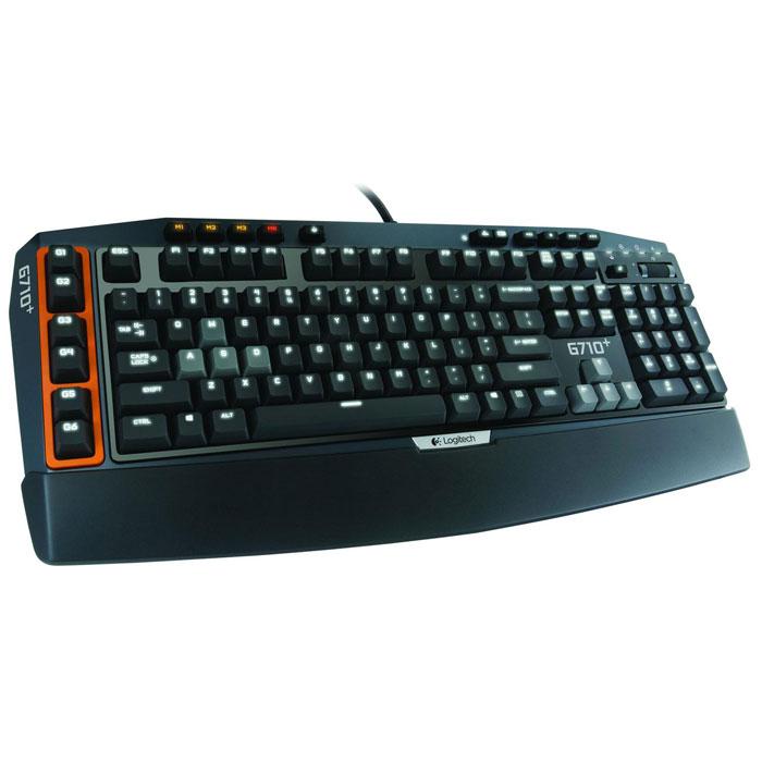 Logitech G710+ (920-005707) клавиатура920-005707Механические клавиши клавиатуры Logitech G710+ (920-005707) обеспечивают чувствительность игрового класса и тактильную обратную связь, и в этом несомненное превосходство клавиатуры G710+ над клавиатурами с резиновым основанием под клавишами. Клавиши оптимизированы для быстрого реагирования: сила нажатия составляет 45 г, а глубина — 4 мм. Кроме того, во время испытаний клавиши выдержали 50 миллионов нажатий. Все внимание — игре:Бесшумные, не издающие щелчков контакты клавиш и встроенные демпфирующие кольца под каждым клавишным колпачком позволяют значительно снизить раздражающий шум от нажатий клавиш, не жертвуя при этом их чувствительностью.Экспертное качество — с подсветкой:Клавиши легко различимы — даже при слабом освещении. Вся поверхность клавиатуры оснащена белой светодиодной подсветкой, которая имеет четыре уровня яркости, а по желанию отключается. Для лучшей различимости клавиш W, A, S, D и клавиш со стрелками они снабжены отдельным регулятором яркости, независимым от остальной клавиатуры.Больше возможностей в вашем распоряжении:Удобные элементы управления в одно касание обеспечивают мгновенный доступ к регулировке громкости и воспроизведению мультимедиа без необходимости нажимать функциональную клавишу.В Вашем распоряжении:Благодаря возможности назначить до трех макросов каждой G-клавише можно настроить до 18 уникальных функций на одну игру. Используйте всю мощь G-клавиш для настройки одноклавишных действий, вызова сложных макросов или изощренных LUA-сценариев на лету. Быстро упростите действия, чтобы сохранять погруженность в игру и не терять ни секунды. Можно даже создавать макросы в процессе игры.Ноль ошибочных перемещений:Когда из-за случайных нажатий клавиш Вы неожиданно вылетаете на рабочий стол, вы рискуете стать чемпионом среди получивших пулю в голову. Не позволяйте подобным промахам прерывать вашу серию убийств: просто отключите клавишу Windows одной кнопкой, и игра не прервется.Клавиши созданы для иг