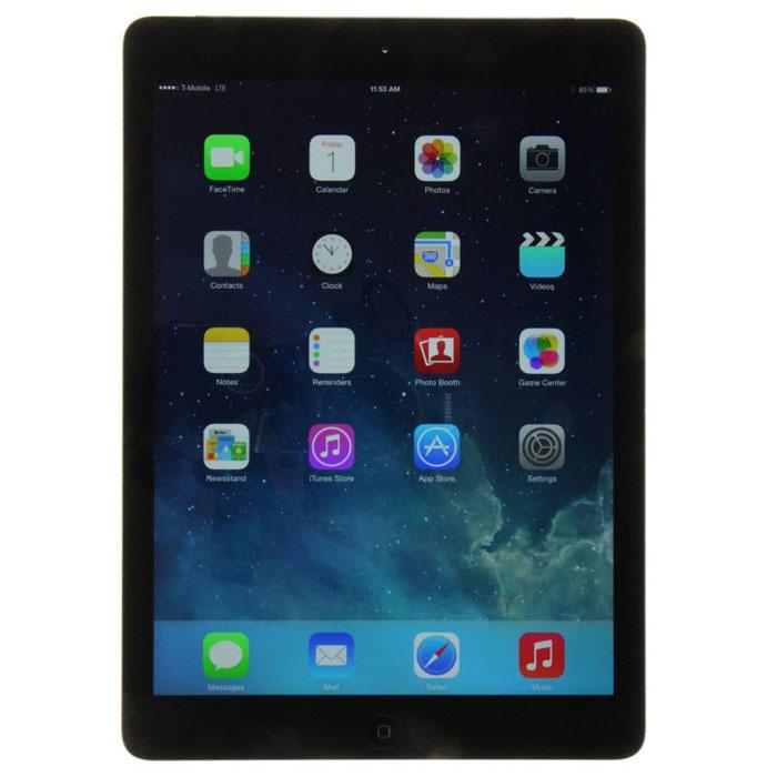 Apple iPad Air Wi-Fi + Cellular 16GB, Space GrayMD791RU/BПланшет Apple iPad Air– невероятно тонкий и легкий. При этом он по всем параметрам обходит своих предшественников. 64-битный процессор A7 и сопроцессор движений M7, передовые технологии беспроводной связи, сотни тысяч приложений на каждый день – iPad Air предлагает больше возможностей, чем можно себе представить.Совершенно новый дизайн:Стоит взять Apple iPad Air в руки, чтобы поверить в его реальность. Торжество технологий заключено в алюминиевый корпус 7,5-мм толщины весом всего 478 г. Apple iPad Air стал на 28% легче, на 20% тоньше и на 24% компактнее, но он гораздо мощнее и функциональнее своих предшественников и по-прежнему работает все те же невероятные 10 часов без подзарядки.Дисплей Retina:Ширина планшета и боковые кромки по краям дисплея были уменьшены. Но размер экрана не уменьшился ни на миллиметр. Экран всегда был главным в планшетах Apple, теперь же изображение еще сильнее притягивает взгляд. С разрешением 2048x1536 текст на 9,7- дюймовом дисплее выглядит кристально четко, на видео и фотографиях не пропустить ни одной детали, а пиксели не различимы глазом.Все начинается с чипа:Apple iPad Air управляется совершенно новыми 64-битным процессором A7 и сопроцессором движения M7 уровня настольных компьютеров. По сравнению с предыдущим поколением Apple iPad скорость графики и общая производительность выросли до двух раз. Новые чипы превосходят современные требования, позволяя уменьшить размеры планшета и в то же время увеличить его вычислительную мощь. А использование сопроцессора, который обрабатывает сигналы движения акселерометра, гироскопа и компаса, разгружая тем самым основной процессор, позволило Apple iPad Air работать еще более эффективно.Операционная система будущего:Удобство дизайна Apple iPad Air подчеркивает и переработанная внешне и внутренне операционная система iOS 9. Инструмент общения человека с планшетом стал проще, полезнее и приятнее в использовании, сохранив только то, за что любят i