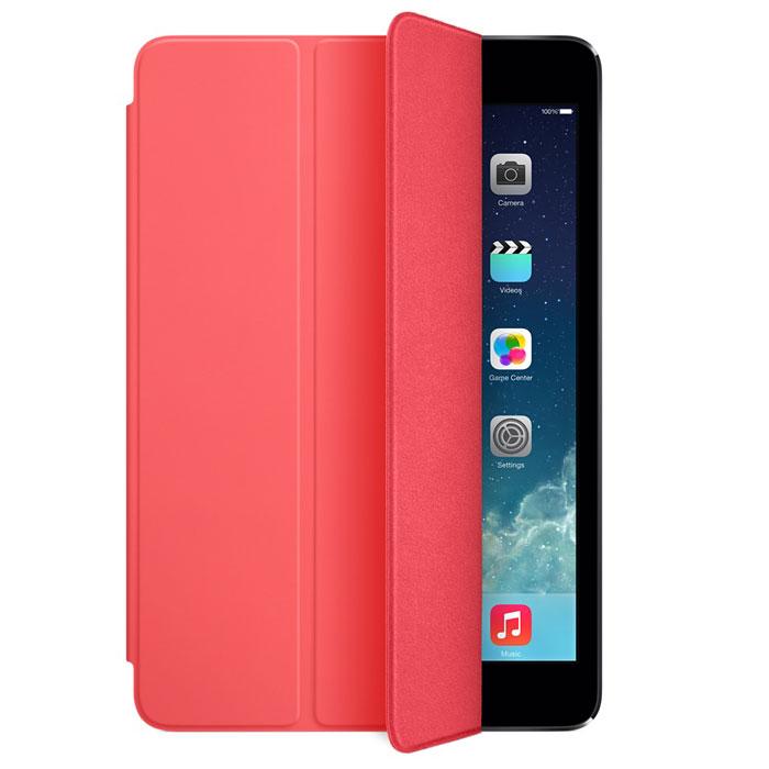 Apple iPad mini Smart Cover чехол для iPad mini Retina, PinkMF061ZM/AЛёгкая и прочная обложка Apple iPad Smart Cover полностью обновлена, чтобы соответствовать дизайну iPad mini с дисплеем Retina. Она защищает дисплей планшета, не закрывая заднюю часть алюминиевого корпуса. Поэтому Ваш iPad выглядит именно как iPad — только он лучше защищён.Обложка изготовлена из мягкого прочного полиуретана и доступна в шести ярких цветах. А её мягкая подкладка из микрофибры того же цвета помогает поддерживать экран в чистоте. Крепление обложки идеально прилегает к корпусу планшета, а магниты надёжно удерживают её. При открытии чехла-обложки iPad mini автоматически выходит из режима сна, а при закрытии моментально возвращается в режим сна.Обложка Smart Cover может служить подставкой для набора текста. Сложите её, чтобы установить iPad mini с удобным наклоном. Продуманная конструкция обложки Smart Cover также позволяет сложить её и превратить в идеальную подставку для общения в FaceTime и просмотра фильмов.