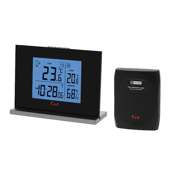 Ea2 EN202 Eternity термометрEN202Электронный термометр Ea2 EN202 производит измерение температуры и влажности внутри помещения, наружной температуры и влажности. Обладает памятью минимальных и максимальных значений температуры, имеет встроенные часы и будильник.