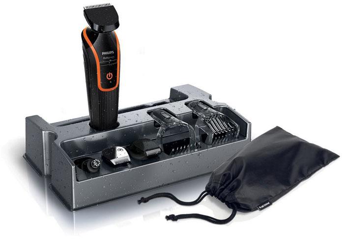 Philips QG3340/16 триммер для бороды и усовQG3340/16Триммер Philips QG 3340/16.Гребень для усов и бороды с 18 установками длины:Создайте бороду нужной длины. Полноразмерный триммер оснащен гребнем для усов и бороды с 18 установками длины с шагом 1 мм (от 1 до 18 мм).Гребень для щетины и контуров с 12 установками длины:Создайте стильную щетину или 3-дневную бородку при помощи съемного прецизионного гребня для щетины с установками длины от 1 до 12 мм.Сетчатая бритва для проработки деталей для чистого бритья:После подравнивания триммером завершите свой стиль при помощи сетчатой бритвы для проработки деталей, чтобы создать безукоризненный образ.Полноразмерный триммер:Полноразмерный триммер для линии шеи, бакенбард и подбородка.Триммер для носа: простое удаление волос:Простое и комфортное удаление волос в ушах и носу благодаря съемному поворотному триммеру.Полная водонепроницаемость для легкой очистки:Машинку легко мыть простым ополаскиванием под струей воды.Самозатачивающиеся лезвия:Стальные лезвия слегка касаются друг друга и таким образом затачиваются во время стрижки! Лезвия всегда остаются очень острыми и гарантируют быструю и аккуратную стрижку, а закругленные края и гребни предотвращают раздражение кожи.Безопасно и качественно:Контейнер для хранения поможет поддержать порядок в доме; удобный дорожный чехол пригодится для хранения и защиты MultiGroomer во время поездок.