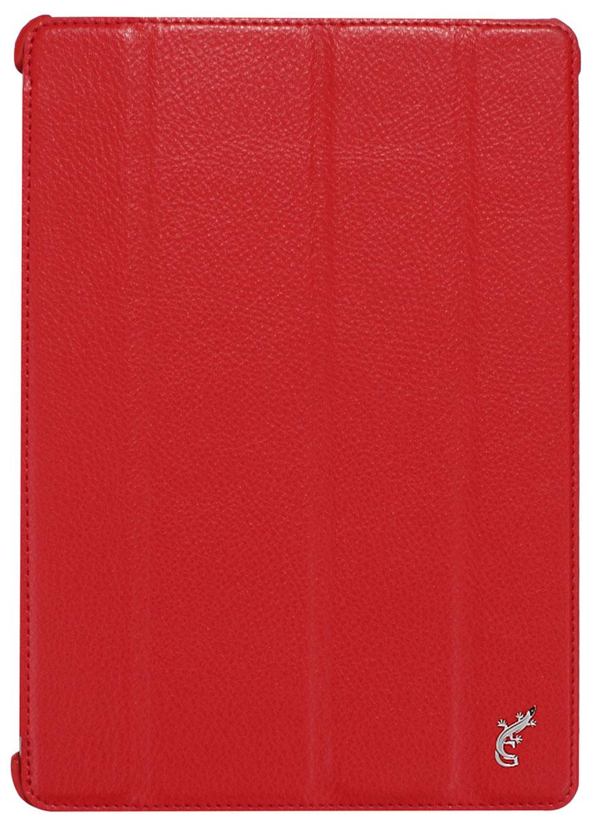 G-case Elegant чехол для iPad Air, RedGG-229G-Case Elegant - это качественный, функциональный и стильный кожаный чехол для iPad Air, который станетотличным решением для защиты Вашего планшетного компьютера от пыли, ударов и царапин. При этом он не затрудняет доступ к iPad и обеспечивает высокий высокий уровень удобства при его использовании. Сам чехол изготовлен из высококачественной кожи как снаружи, так и внутри чехла, благодаря чему iPad Air останется в первозданном виде.В открытом виде Вам будут доступны все функциональные клавиши и разъемы iPad Air. В закрытом виде чехол G-Case Elegant не помешает заряжать iPad Air, фотографировать или слушать музыку. В G-Case Elegant устройство не становится толще или тяжелее, поэтому легко поместится в сумку. Такой чехол надежно защитит Ваш iPad Air во время эксплуатации и транспортировки. Впрочем, все эти качества наверняка оценят те, кто предпочитают комфортные и качественные вещи.