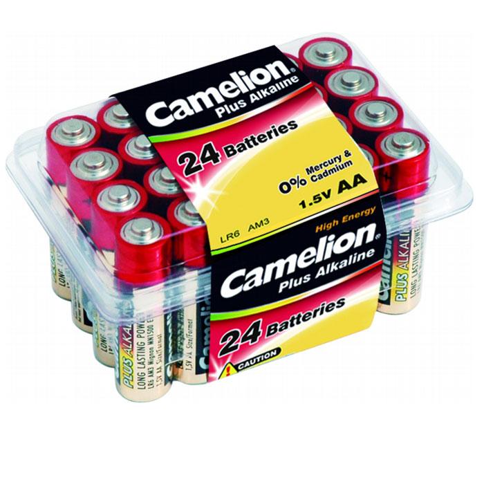 Camelion LR6-PB24 Plus, батарейки 1.5В, 24 шт6752Специальные щелочные элементы питания Camelion LR6-PB24 с высокой энергоемкомстью предназначены для использования в пультах дистанционного управления, различной -аудио, -видео технике.