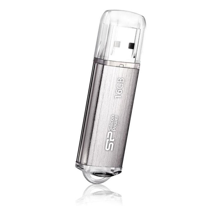 Silicon Power Ultima II 16GB, Silver USB-флэш накопительSP016GBUF2M01V1SUSB-накопитель Silicon Power Ultima II имеет современный алюминиевый корпус с матовой поверхностью, защищенной от царапин и отпечатков пальцев. LED-индикация показывает статус работы. Благодаря системе Рlug and play накопитель не требует внешних источников питания Не требует драйвера, за исключением Win 98/ 98SE. Совместим со стандартом RoHS.