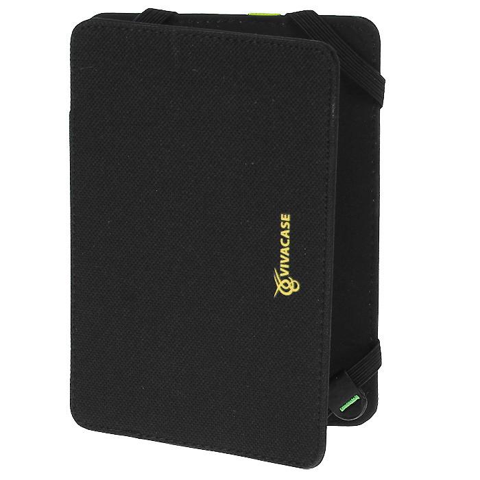 Vivacase Neon текстильный чехол-обложка для PocketBook 515, Black Yellow (VPB-P515N01-by)