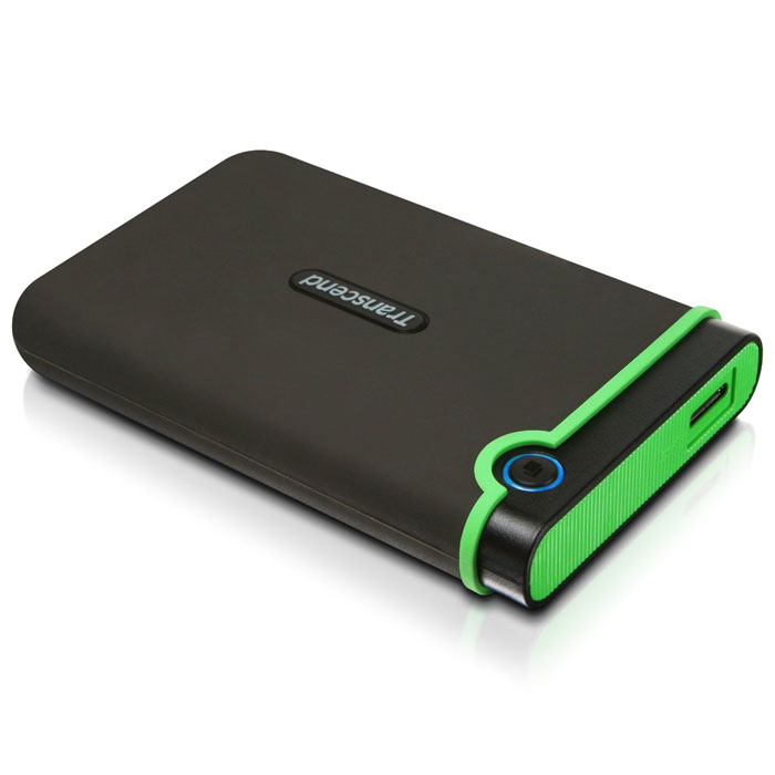 Transcend StoreJet 25M3 1TB, Iron Grеy внешний жесткий диск (TS1TSJ25M3)TS1TSJ25M3Портативное устройство Transcend StoreJet 25M3 сочетает в себе преимущества награжденной ударопрочной серии внешних жестких дисков StoreJet М компании Transcend и новейшей технологии сверхскоростной передачи информации SuperSpeed USB 3.0, что обеспечит максимальную скорость передачи данных и необычайную ударопрочность устройства для пользователя. Кроме всех вышеперечисленных достоинств, StoreJet 25M3 оснащен кнопкой мгновенного резервного копирования. Теперь вы можете выполнить моментальное резервное копирование, синхронизацию и копирование больших файлов без потери вашего времени.Произведен с применением технологии высокоскоростного USB 3.0 и совместим с USB 2.0 с обратной стороны устройстваИзносостойкий ударопоглощающий внешний резиновый кейсУлучшения система внутреннее защитной подвески жесткого дискаПростота в работе в режиме Plug and Play , без необходимости драйверовПитание от USB - нет необходимости во внешнем адаптореЭнергосберегающий спящий режимАвтоматическое резервное копирование в одно нажатиеЦветной LED индикатор (режим работы, передачи данных, тип подсоединения USB 2.0/3.0)В комплект входит ПО поддержки StoreJet Elite backupОбъем кэша: 8 МБСистемные требования: Windows XP/Vista/Windows 7, Mac OS X 10.4, Linux Kernel 2.6.31