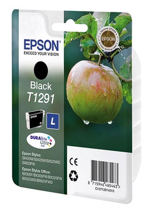 Epson T1291 (C13T12914010), Black картридж для SX425/SX525/BX305/BX320/BX625C13T12914011Картридж Epson T1291. Компания Epson производит картриджи для струйной печати с ресурсом, соответствующим стандартам ISO/IEC FCD 24711 и 24712.