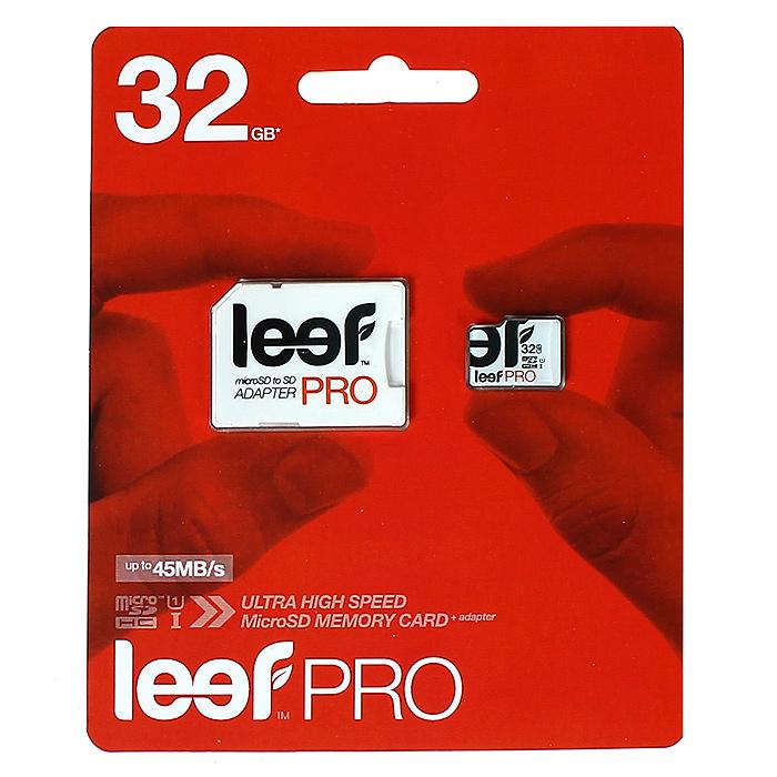 Leef microSD PRO 32GB UHSLFMSDPRO-03210RLeef microSD PRO - профессиональная карта памяти. Позволяет надежно хранить фотографии, музыку, фильмы и любую другую информацию. Она выпускается в вариантах различной емкостью и идеально подходит для планшетных ПК и смартфонов. Вся продукция Leef водонепроницаемая, ударопрочная, имеет пылезащищенный корпус и устойчива к работе в экстремальных температурных условиях.