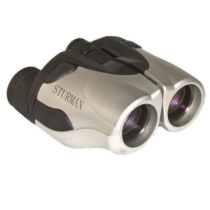 Sturman 8-25x25 бинокль2013Среди всех типов биноклей особенно сложными по конструкции, но в то же время универсальными можно назвать панкратические бинокли, один из них -STURMAN 8-25x25. Его удобство и функциональность проявляются в возможности регулировки кратности увеличения особым рычажком на корпусе, при этом изменяются также светосила бинокля и поле зрения. Таким образом, наблюдатель может эффективно управлять биноклем, меняя его параметры в зависимости от цели и условий наблюдения. Бинокли STURMAN отличает высокое качество исполнения, которое сочетается с доступной ценой. Бинокли этой марки подходят для всех возможных ситуаций, когда требуется приблизить и детально рассмотреть удаленные объекты. Такой бинокль можновзять на рыбалку, охоту, на пикник, да и на обычную пешую прогулку по городу. Бинокль STURMAN всегда приятно держать в руках - обрезиненный корпус не скользит в руках. Это покрытие имеет и защитные функции, предохраняя конструкцию от повреждения от ударов. Ряд моделей имеет оптику с рубиновым покрытием - оно выполняет функции светофильтра.Увеличение бинокля: 8-25.