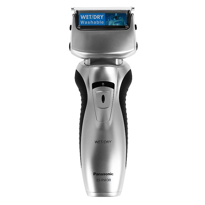 Panasonic ES-RW30-СМ520ES-RW30CM520Электробритва ES-RW30-CM520.Чистое и комфортное бритье WET/DRY - сухое и влажное:Использование пены помогает бритве легче скользить по коже, обеспечивая удивительно ощущение комфорта. Пена также способствует вытягиванию волосков, что позволяет сбривать их максимально близко к корням. Помимо чистоты и удобства влажное бритьё дарит ещё и несравненную свободу действий – теперь бриться можно, даже принимая душ. Простая чистка при помощи жидкого мыла:Выбор режимов бритья для различных типов кожи и щетины с помощью нового переключателя в виде диска позволяет обеспечить комфортное и качественное бритье для любых типов кожи и щетины. Простая чистка при помощи жидкого мыла:1. Просто возьмите немного жидкого мыла и нанесите его на головки бритвы.2. Включите электробритву и дайте ей поработать, пока не образуется густая мыльная пена.3. Водонепроницаемый корпус позволяет промыть головки бритвы проточной водой.