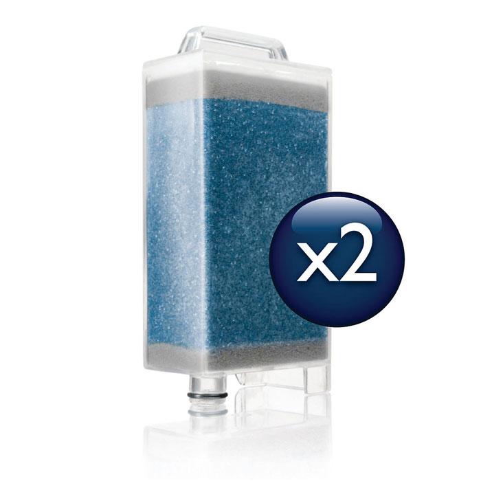 Philips GC019/00 картриджи от накипи для гладильного комплекса GC9940/05, 2 штGC019/00Гладильная система Philips GC019/00оснащена уникальной системой защиты от накипи DualProtect, которая удаляет из прибора до 99% известкового налета. Специальные картриджи от накипи деминерализуют воду и на 99% защищают систему от накипи.Система удаления накипи DualProtect подскажет, когда необходимо заменить картридж:Модели WardrobeCare оснащены системой удаления накипи DualProtect, которая уведомляет о необходимости замены картриджа, защищая систему от накипи на 99%.Картридж легко заменять:Картриджи от накипи необходимо заменять раз в 3-7 месяцев в зависимости от жесткости воды. Когда синие гранулы в картридже полностью поменяли цвет на коричневый, картридж необходимо заменить.Подходит для всех моделей WardrobeCare:Подходит для всех моделей WardrobeCare: GC9920, GC9940, GC9955 - требуется новый резервуар для воды с отделением для картриджа от накипи.