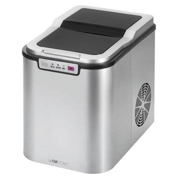 Clatronic EWB 3526 ледогенераторEWB 3526Компактный ледогенератор Clatronic EWB 3526 с корпусом из нержавеющей стали быстро и просто делает кубики льда одним нажатием кнопки. Этот бытовой прибор прост в обращении и прекрасно подойдет для использования дома и в офисе, в небольших барах, а также для проведения пикников. Для работы просто требуется заполнить резервуар питьевой водой (объем чаши - 2,2 л). Производительность ледогенератора составляет около 10-15 кг льда в сутки (примерно 90 г за 10 минут, что соответствует 9 кубикам льда). Когда устройство заполнено или резервуар пуст, загорается светодиодный индикатор, а также издается звуковой сигнал.