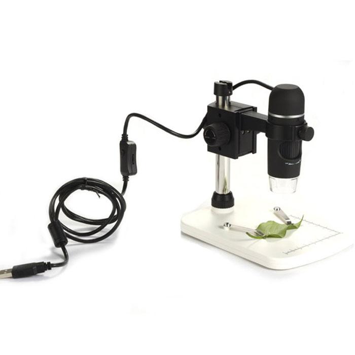 Levenhuk DTX 90 микроскоп61022Levenhuk DTX 90 – это современный профессиональный USB-микроскоп для сверхточных работ. Дает увеличение в диапазоне от 10 до 300 крат. Оснащен 5-мегапиксельной камерой. Микроскоп комплектуется специальным штативом и основанием с измерительной шкалой (8 см по оси x, 7 см по оси y) и двумя зажимами для закрепления образца под камерой.Микроскоп позволяет получать снимки высокого качества и разрешения. Подключается к компьютеру или ноутбуку через стандартный порт USB 2.0. Изучение образцов и обработка изображения происходит с помощью программы захвата изображения, входящей в стандартную комплектацию. Помимо записи и редактирования фотографий и видеозаписей, программа умеет измерять длину объекта, периметр, радиус, диаметр, а также разнообразные углы.Микроскоп Levenhuk DTX 90 очень прост в использовании и не требует специальной подготовки пользователя. Небольшие размеры прибора делают его очень удобным для домашнего использования. При необходимости Вы можете снять камеру и использовать ее без штатива. Корпус микроскопа имеет прорезиненное покрытие, которое не только приятно на ощупь, но и не даст прибору выскользнуть из рук.