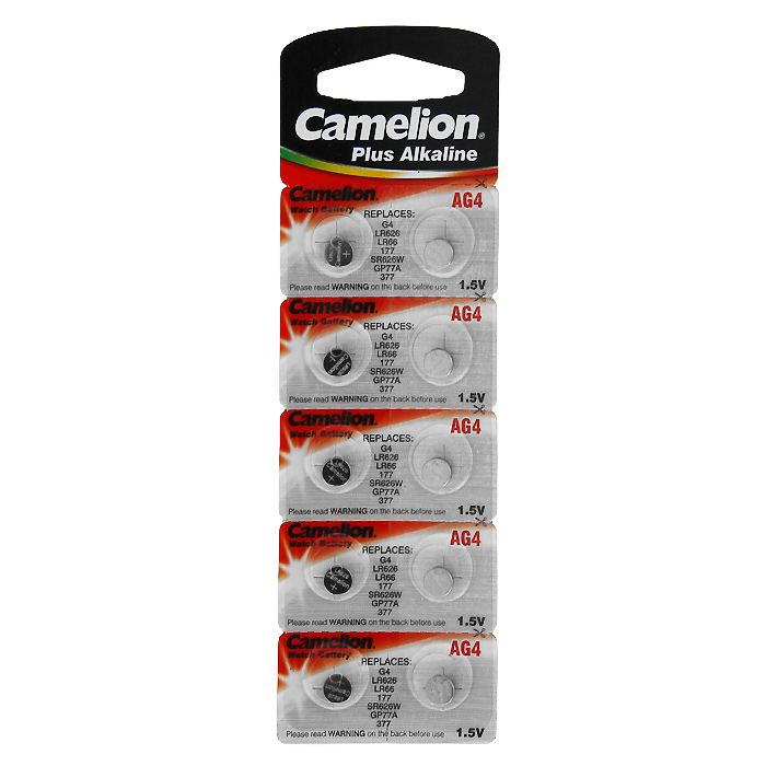 Camelion G4 BL-10 (AG4-BP10, 377A/LR626/177) батарейка для часов, 10 шт