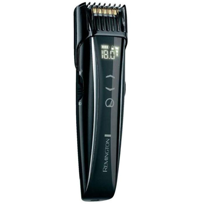 Remington MB4555 Touch Control триммер для бородыMB4555С помощью Remington MB4555 Вы сможете подстригать, профилировать и подравнивать бородку и усы, при этом благодаря специально разработанной моторизированной насадке-расческе у Вас есть возможность устанавливать длину стрижки в диапазоне от 0,4 мм до 18 мм. Шаг изменения составляет 0,1 мм, а значит можно выбрать один из 175 вариантов стрижки. Вдобавок к этому в данной модели предусмотрена возможность изменения скорости работы двигателя для наиболее удобного и комфортного бритья.Лезвия триммера имеют прочное титановое покрытие и не нуждаются в смазке, что делает уход за прибором очень простым. К тому же в комплект устройства входит щеточка для его очистки, при помощи которой Вы удалите остатки волос с насадки и ножа триммера. Главное, на что стоит обратить внимание, это сенсорное управление. Триммер MB4555 оснащен цифровым дисплеем, одним прикосновением к которому Вы можете отрегулировать длину стрижки и скорость работы двигателя. Мало того, на нем отображается уровень заряда и настройка режима блокировки/разблокировки от случайного нажатия кнопок.Примечательно и то, что модель Remington MB4555 может работать как от сети, так и от встроенного аккумулятора. Время беспроводной работы составляет 40 минут, а время подзарядки – 90. Кстати, заряжать устройство вы можете не только, включив его в розетку, но и от компьютера или ноутбука посредством USB-кабеля, который входит в комплект.