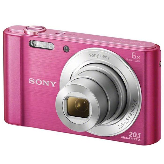 Sony Cyber-shot DSC-W810, Pink цифровой фотоаппаратDSC-W810/PКомпактная камера Sony Cyber-shot DSC-W810 с 6-кратным оптическим зумом.Камера W810 оснащена множеством функций для удобства съемки четких фотографий и видеороликов в разрешении HD. Делайте четкие снимки крупным планом с помощью 6-кратного оптического зума. В режиме вечеринки вы сможете с удобством делать прекрасные фотографии во время вечеринок. Без труда делайте красивые снимки в любых условиях. Матрица 20,1 Мпикс с высоким разрешением и встроенный автофокус обеспечивают четкие, детализированные кадры даже при быстром движении. Если объект съемки находится далеко, станьте к нему ближе с помощью 6-кратного оптического зума, который позволяет запечатлеть четкие снимки.Режим вечеринки отлично подходит для съемки на ночной вечеринке. Он сочетает улучшенную вспышку с оптимизированными настройками ISO, экспозиции и яркости цвета для ярких и четких снимков с вечеринки, длящейся всю ночь напролет. Кнопка Movie позволяет снимать видео в формате 720p HD и мгновенно воспроизводить его, давая возможность заново пережить эти моменты с друзьями. Встроенная стабилизация изображения SteadyShot компенсирует размытость из-за дрожания камеры и позволяет получить четкие изображения даже при зумировании. Благодаря режиму Sweep Panorama 360° изображение становится больше. Камера автоматически сшивает серию кадров на высокой скорости и создает панорамные снимки всей сцены целиком.