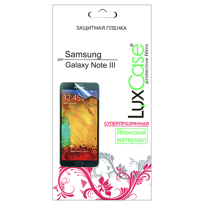 все цены на  Luxcase защитная пленка для Samsung Galaxy Note III, суперпрозрачная  онлайн