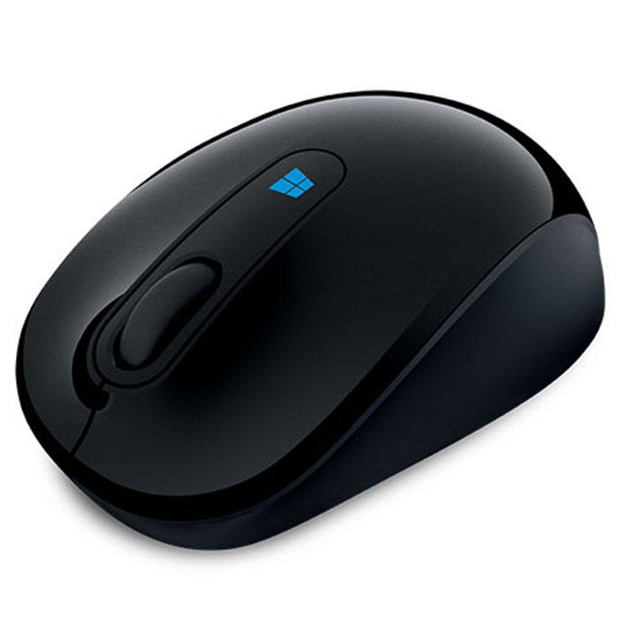 Microsoft Sculpt Mobile Mouse, Black беспроводная мышь43U-00004Беспроводная компактная мышь Microsoft Sculpt Mobile Mouse.Кнопка Windows на Sculpt Mobile Mouse — это новая впечатляющая функциональная возможность, отлично работающая с Windows 8. Нажмите эмблему Windows, чтобы сразу же перейти к начальному экрану и всем закрепленным на нем важным приложениям.От редактирования презентаций до общения с друзьями по сети — Sculpt Mobile Mouse во всем проявит себя удобным и надежным соратником в условиях современной мобильной жизни. Ее компактный дизайн и технология BlueTrack Technology, обеспечивающая работу практически на любой поверхности, делают из нее идеальное устройство для работы в офисе и вне его. Благодаря этой беспроводной мыши, подключающейся по mini-USB, на вашем столе (или кофейном столике) появится больше места и комфорта.Классическая форма Sculpt Mobile Mouse в сочетании с четырехмерным колесом прокрутки обеспечивают интуитивность в использовании и удобно лежит в любой из рук. Наклоны колеса влево и вправо обеспечивают горизонтальную прокрутку, удобную при навигации по начальному экрану, перемещении по широким документам.