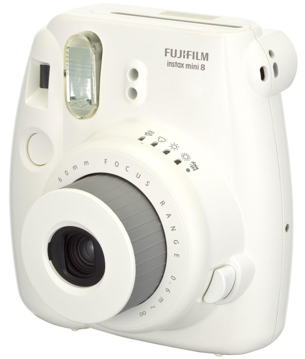 Fujifilm Instax Mini 8, White фотоаппарат - Цифровые фотоаппараты